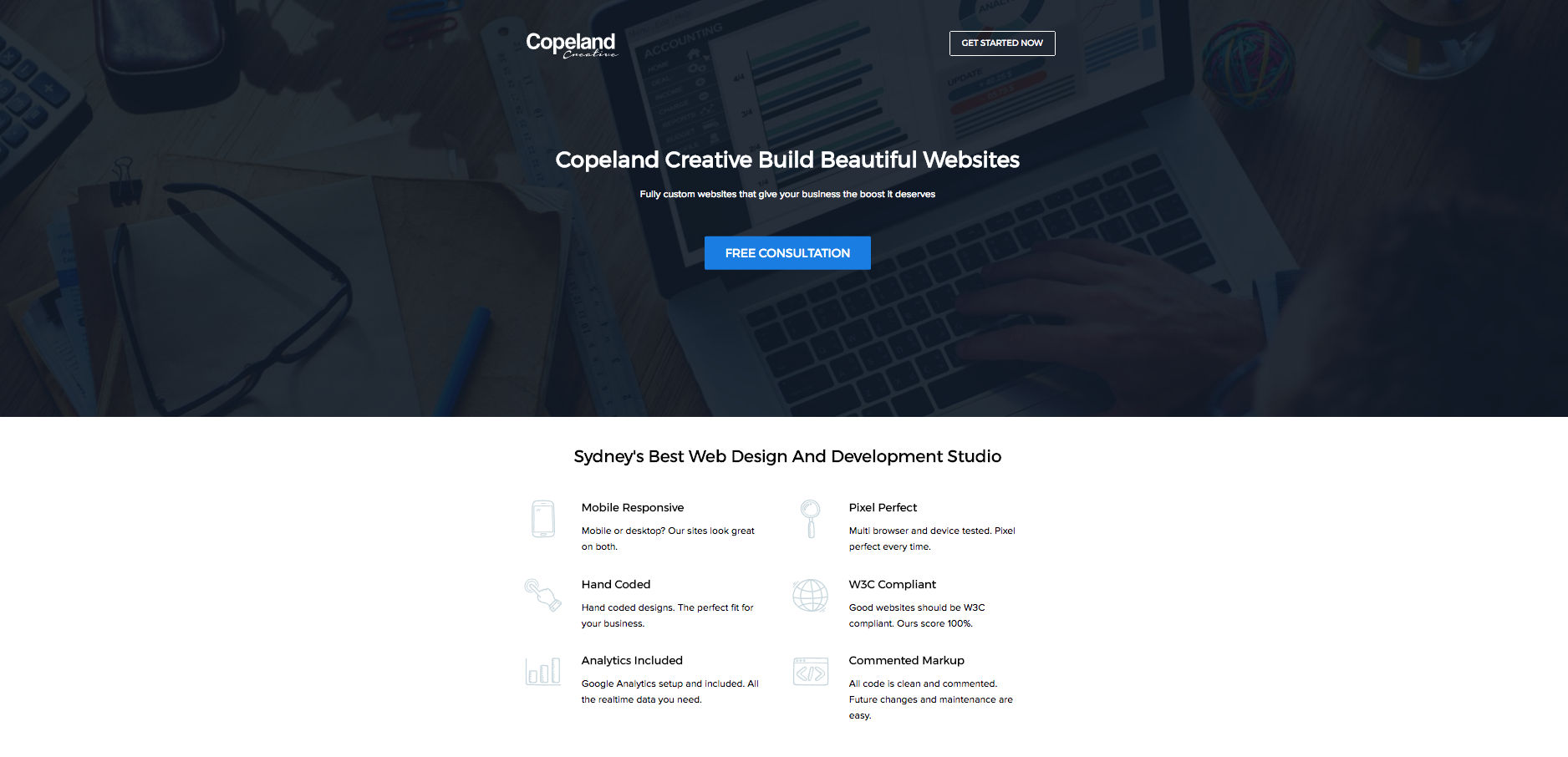 copeland creative landing page