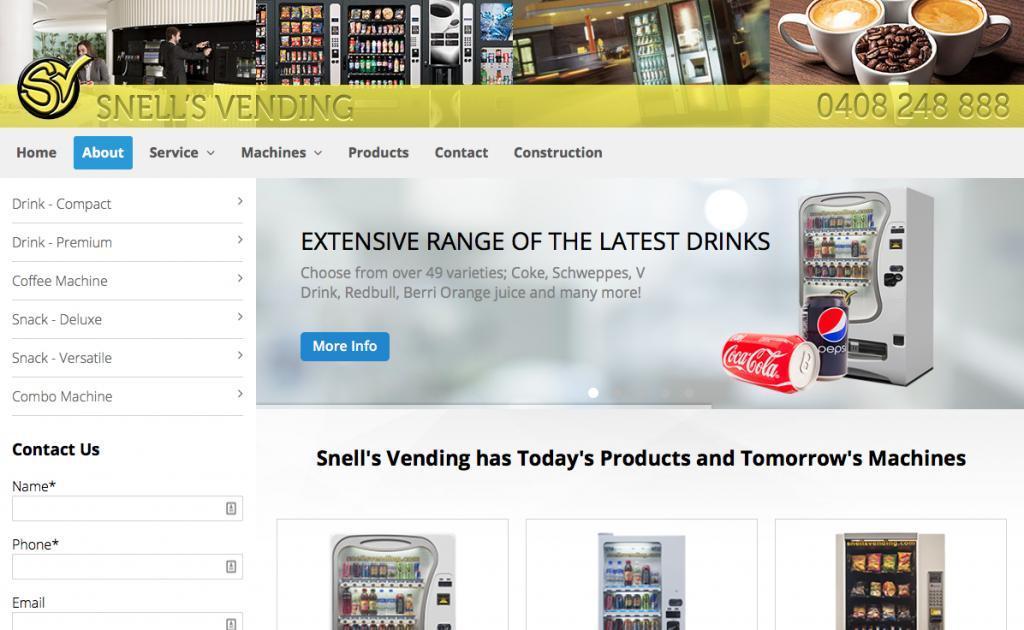 snells vending website