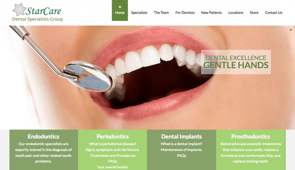 starcare dental website